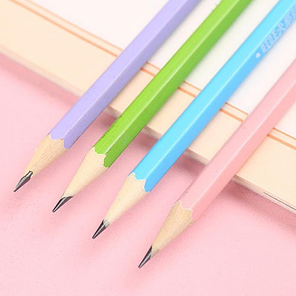 Adeeing 12PCS Cartoon Writing Pencil Student Lead-free No-poison HB Pencil d20 image