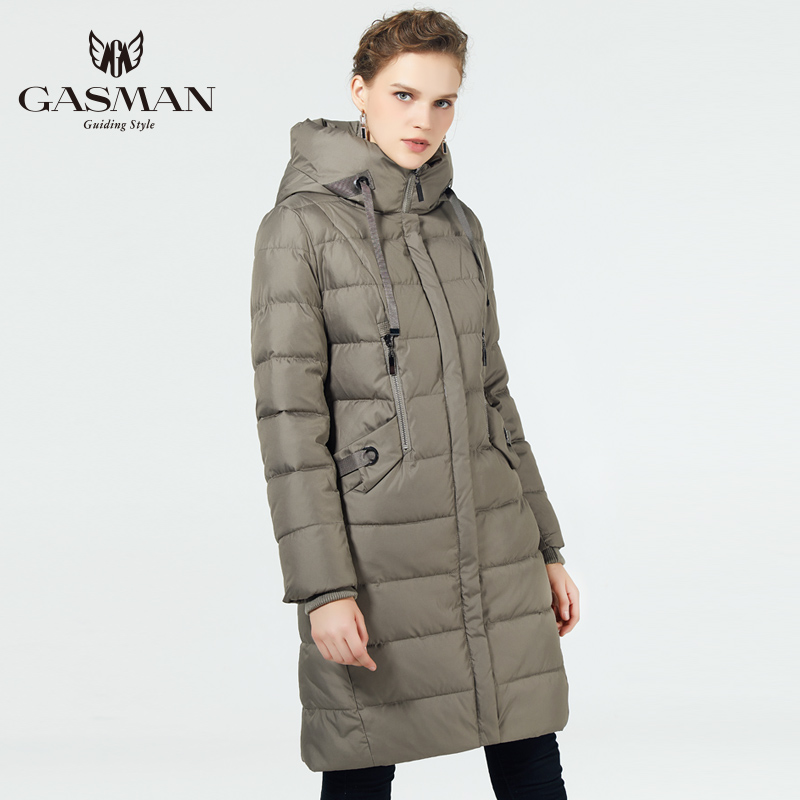 GASMAN 2019 Fashion Slim Parka Women Winter Jacket Long Cotton Padded Warm Thicken Ladies Coats Parka Womens Jackets and Coats