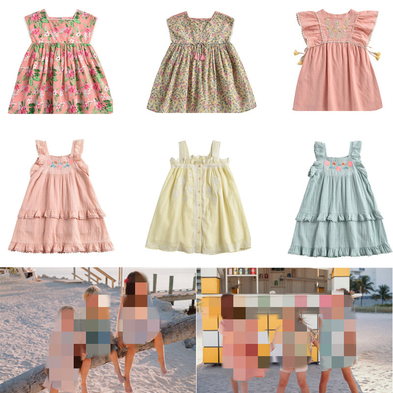 ZMHYAOKE-LM NEW 2020 Summer Baby Girls Casual Dresses Fashion Beach Christmas Dress Girl Thanksgiving Girls Princess Dress