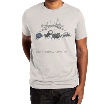 The Beetles T Shirt play on words insects bugs abbey road crosswalk silver alexmdc cybermonday humor 1