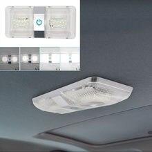 1 ensemble LED plafonnier Double coupole avec vis 6000-6500K éclairage intérieur remorque avec interrupteur marche/arrêt pour camping-car RV bateau