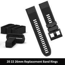 20 22 26mm Strap Loop Ring Silicone Rubber For Garmin Fenix5 5S 5X 6 6S 6X Plus Band Keeper Security Holder Retainer Accessory(China)