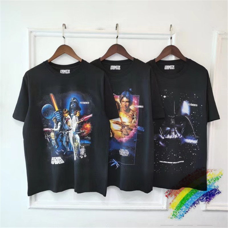 Darth Vader STARWARS Vetements T-shirt Men Women Top Version VETEMENTS T-shirts Oversize VTM Tee