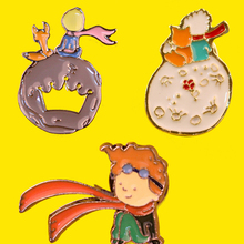 Little Prince and fox Pin Zinc Alloy Brooch Anime metal Badge Backpack Jeans Clothes Lapel Pins and brooches gift kids Jewelry zinc alloy artificial diamond crown pin brooch silver