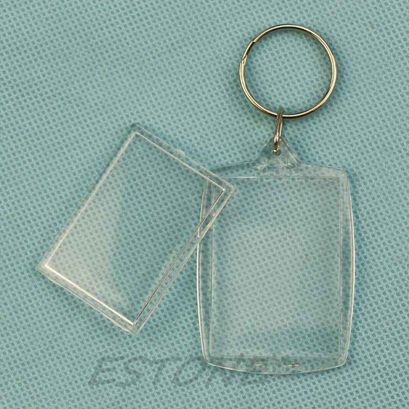 Акриловые пластиковые 40x27 мм Пустые брелки вставные фото паспорт брелки