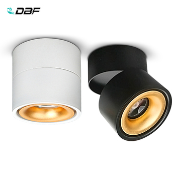 [DBF]360 Degree Rotatable Surface Mounted Ceiling Downlight 7W 10W 12W 15W LED Ceiling Spot Light for Kitchen Living room Decor artpad modern 7w black ceiling surface mounted light cob led 360 degree rotatable spotlights living room coffee cloth shop led