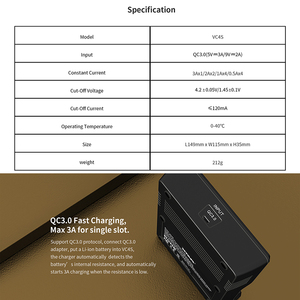 Image 3 - Xtar Batterij Oplader VC8 VC4S QC3.0 Snelle Lader/VC4 VC4S Opladen Voor 1.2V Aaa Aa Batterij/VC2S power Bank / 18650 Lader