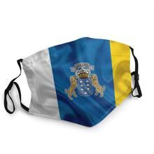 Bandeira de espanha oceano não-descartável boca máscara facial espanhol anti haze proteção à prova de poeira capa respirador boca muffle