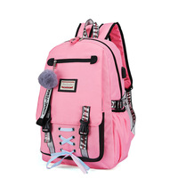 Women Large School Bag For Girls Teenage Usb With Lock Anti Theft Backpack Book Bag Big High School Bag Youth Leisure College