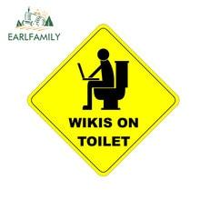 Earlfamily 13cm x 13cm para wikis no toalete carro adesivos à prova dwaterproof água decalque carro assessoires motocicleta anime engraçado scratch-proof