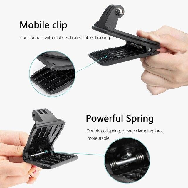 Vamson para GoPro 8 accesorios mochila Clip abrazadera montaje para Go Pro Hero 8 7 6 5 4 para Yi 4K para Cámara de Acción SJCAM para EKEN