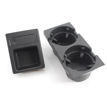 Hot Black Double Hole Car Vehicle Front Center Console Storage Box Coin + Cup Holder for BMW E46 3SERIES 1999-2005