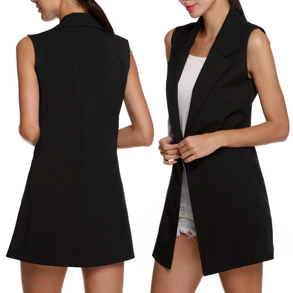 H290409f01c904efba66107125212aa9cA Summer V-Neck Vest Pocket Women Thin Loose Waistcoat Single Breasted Sleeveless Blazer Feminino Short Slim Vest Femme Tide XXL