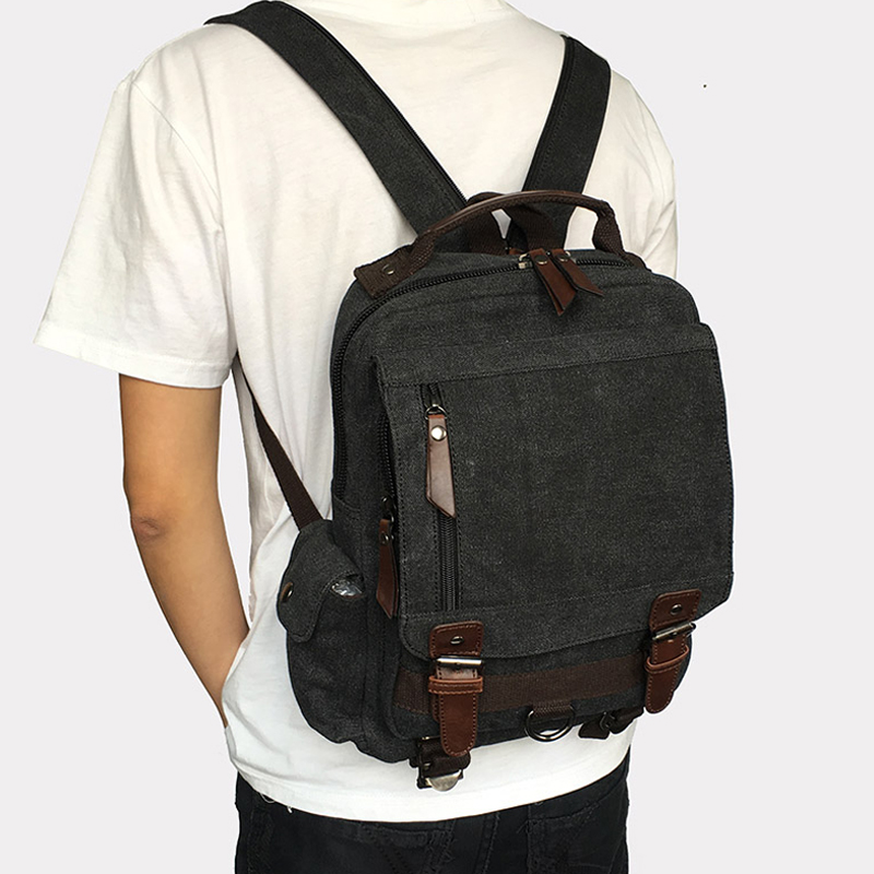 Canvas Multifunctional Backpack 44