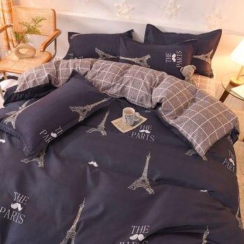 Bedding Set Dark Blue Paris