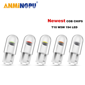 ANMINGPU 10X/20X Signal Lamp Led W5W 12V Bulbs COBSMD T10 W5W 194 Led Canbus Auto Wedge Light Reading Light License Plate Light