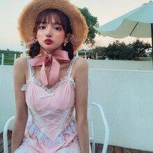 Принцесса сладкий Лолита Camisole Bobon21 ленивый и повседневный праздник французский девушка сладкий кружева популярный сексуальный топ женщин T1778