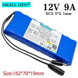 12V 9A 3S3P 18650 lithium battery pack, 3S3P is used for Bluetooth speakers, radios, children's toys, night fishing lights, etc.