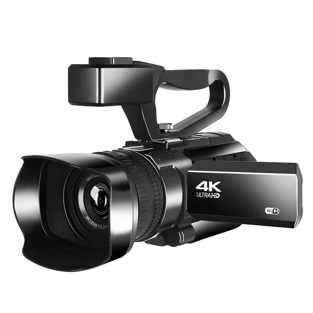 4K Ultra HD 48 МП видеокамера для YouTube прямой трансляции 30X цифровой зум ИК Ночное Видение Wi-Fi управление через приложение 3,0 дюйма