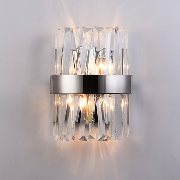New Modern Crystal Wall Lamp Led Sconce Wall Lights Indoor Light Fixtures For Home Decor Bedroom Bathroom Corridor Mirror Lights modern 12w 62cm long square indoor crystal led wall light banheiro deco bathroom mirror lights wall sconce lamps for home