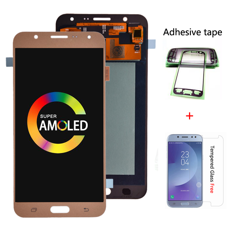 Original AMOLED <font><b>LCD</b></font> For <font><b>Samsung</b></font> Galaxy J7 2015 <font><b>J700</b></font> J700F J700H J700M <font><b>LCD</b></font> Display with Touch Screen Digitizer Assembly image