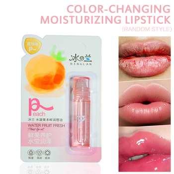 Lip Balm Makeup Fresh Fruit Lip Oil Moisturizing And Repairing Chapped Lipstick Balsamo Labial Make Up Cosmetic TSLM1 image