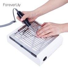 Сильная мощность 40 Вт пылеуловитель для ногтей устройство для всасывания пыли для ногтей пылесос для ногтей профессиональный УФ гель полировальный станок
