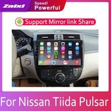 ZaiXi 2din Car multimedia Android Autoradio Radio GPS player For Nissan Tiida Pulsar 2011~2019 Bluetooth WiFi Mirror link