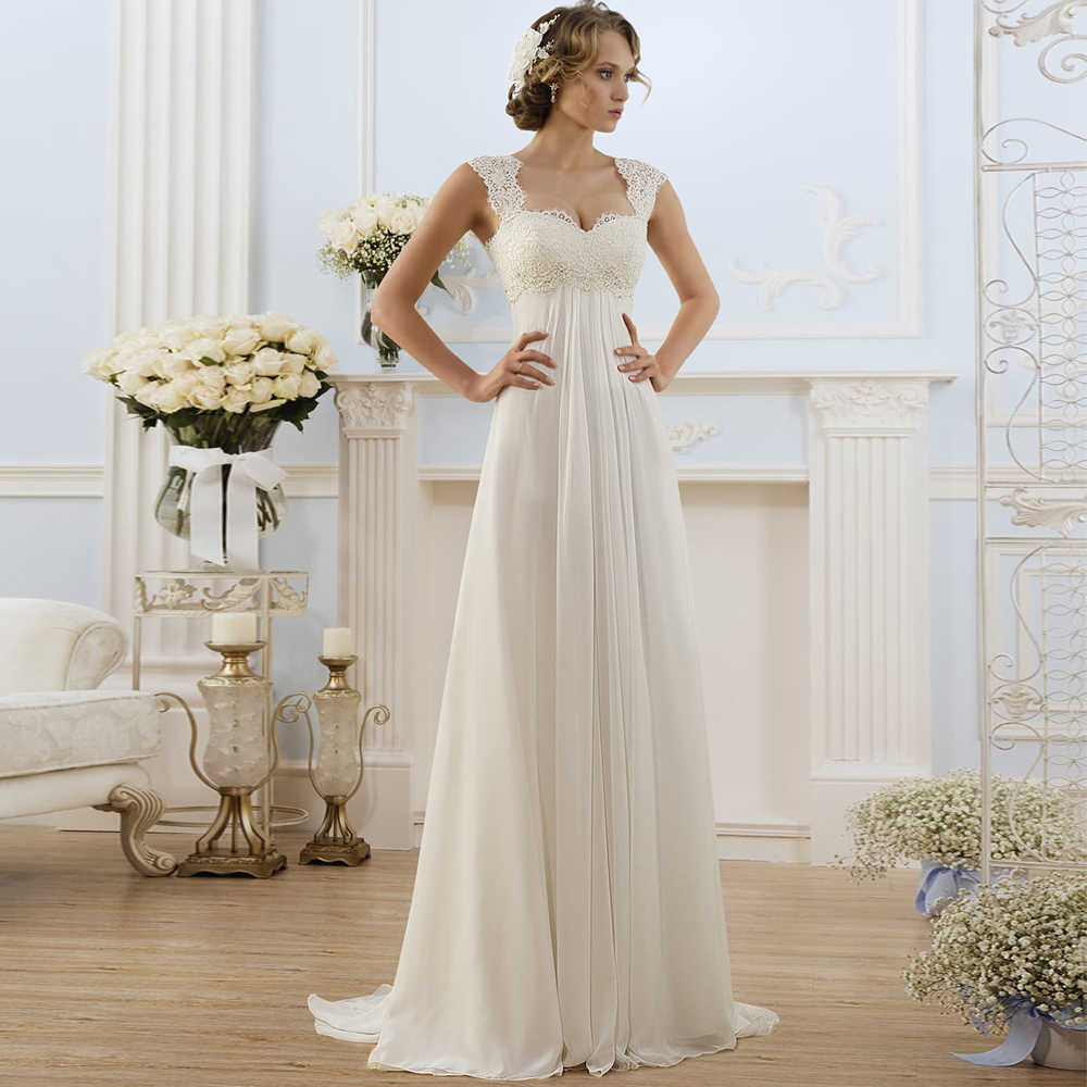 Simple Empire Waist Wedding Dress For Pregnant Woman Chiffon Boho Bride Dress Hot Sale Plus Size Cheap Bridal Gown Wedding Dresses Aliexpress