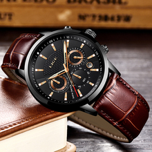 Relogio Masculino Men Watches LIGE Fashion Waterproof Chronograph Top Brand Luxury Quartz Watch Men Casual Leather Sport Watch lige new fashion men watches top brand luxury rose gold quartz watch men casual waterproof sport watch relogio masculino