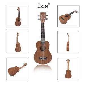 Image 2 - 21 Inch Ukulele Soprano Ukelele Mahogany Wood with Carry Bag Uke Strap Strings Tuner Cloth Finger Maraca Picks