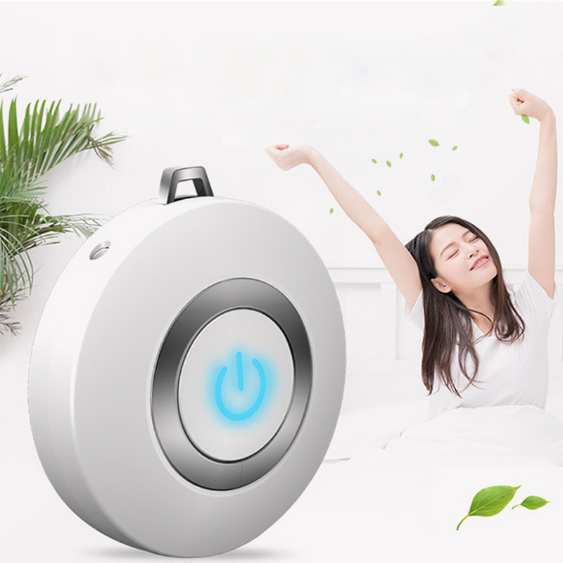 Wearable Mini Air Purifier and Negative Ion Generator for Neck with Pulse Tip Technology