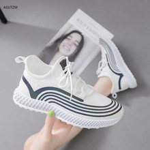 White Casual Shoes Female Ladies Flats Vulcanized Shoes Canvas Stretch Fabric Sneakers Women Shoes Woman Platform Lace Up M68 genuine leather ladies flats sneakers shoe women casual loafers shoes female hollow moccasins white lace up canvas boat shoes