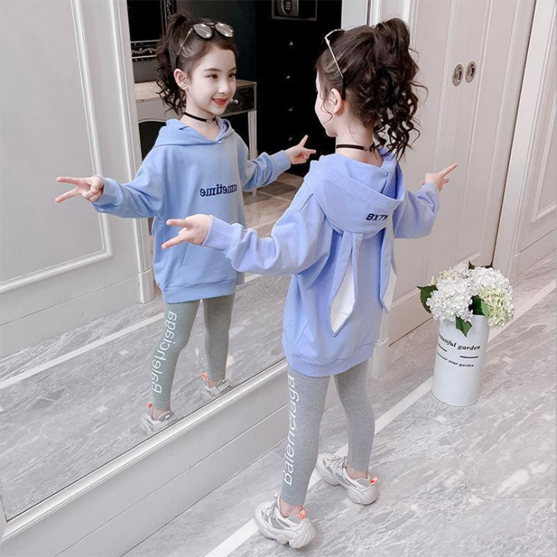 Fashion Girls Clothes Set Teen Girls Tracksuit Spring Autumn Long Sleeve 2pcs Children Suits Little Girl Sets 4 6 8 10 12 years 3