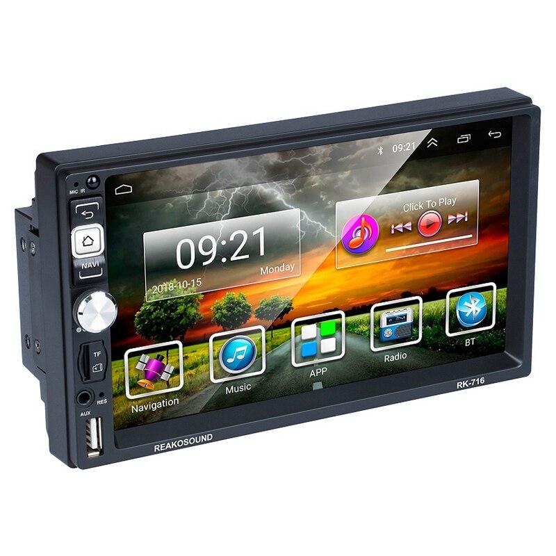 OPQ Новый Android 8,1 автомобильный радиоприемник Gps навигация 2 Din автомобильный радиоприемник 7 дюймов Автомобильный Mp5 мультимедийный плеер Wifi FM... - 2