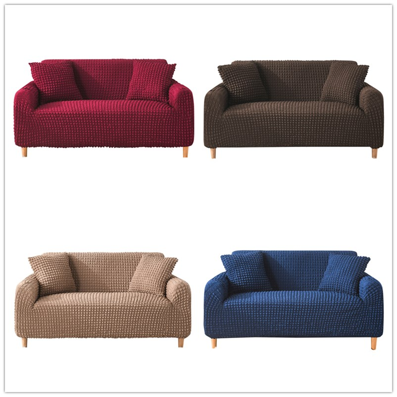 Solid color Sofa Cover Simple stripe sofa cover for Living Room Elastic Couch Slipcover 1 2