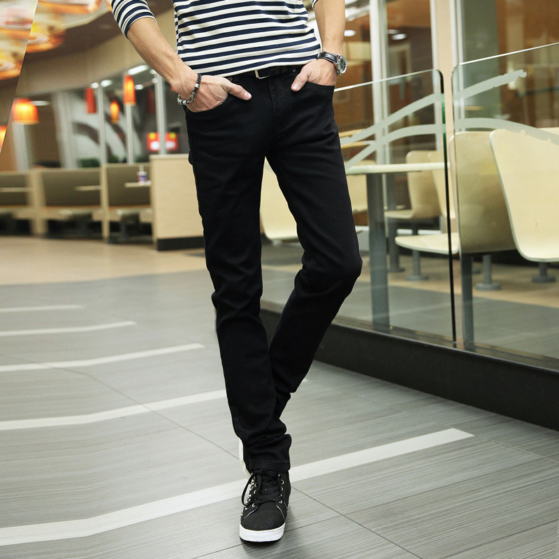 2019 Spring MEN'S Jeans Men Korean-style Slim Fit Fashion Skinny Pants Elasticity Long Pants 8101