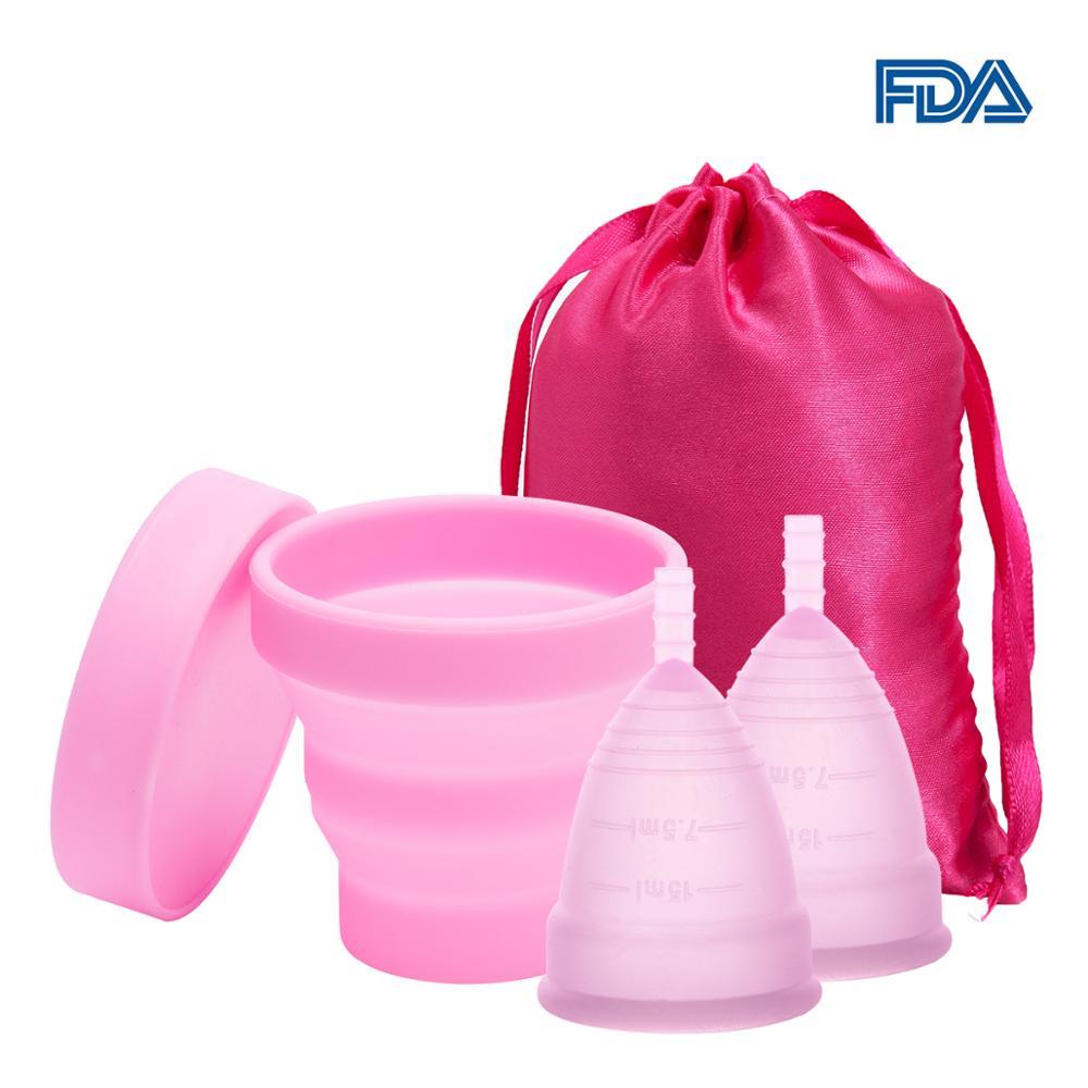 Medical Silicone Menstrual Cup Sterilizer Feminine Hygiene Menstrual Cup Sterilizing Menstrual Cup For Women Menstrual Period