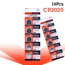 10pcs new battery for cr2025 3v button cell coin batteries for watch computer cr 2025 цена