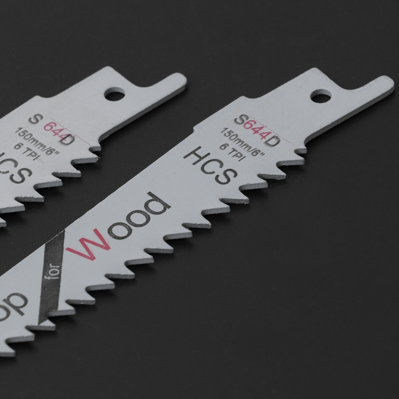 2Pcs 6 Blades Reciprocating Saw Sharp S644D Extra Sabre Pruning For Wood Safety C63E