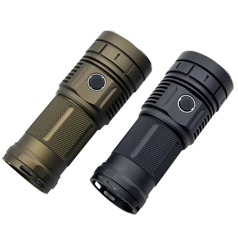 Haikelite HK04 4 X XHP50.2 13000LM 750m Anduril UI Bright Flashlight Waterproof Torch For Camping Lantern Lamp Spotlights IPX7