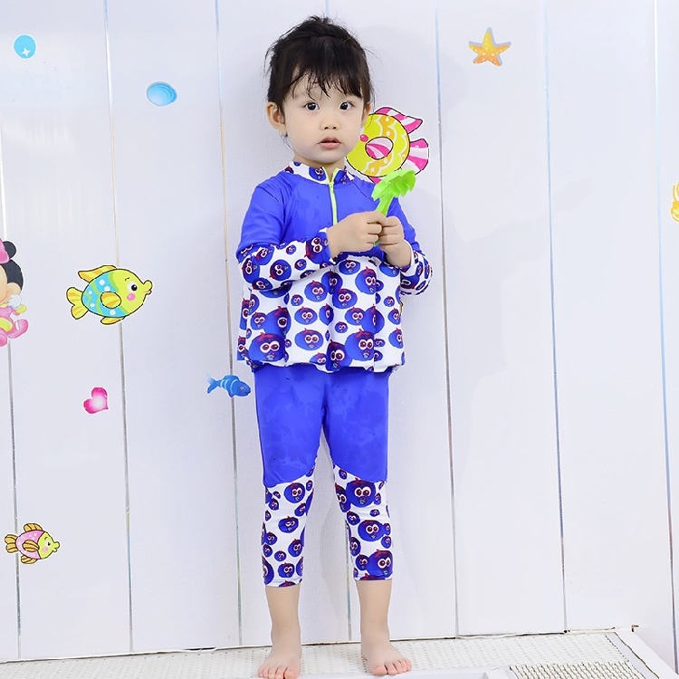 Buoyancy Bathing Suit Children Deconstructable Fu Bang Baby Swimming Learning Bathing Suit Long Sleeve Trousers Warm One-piece S