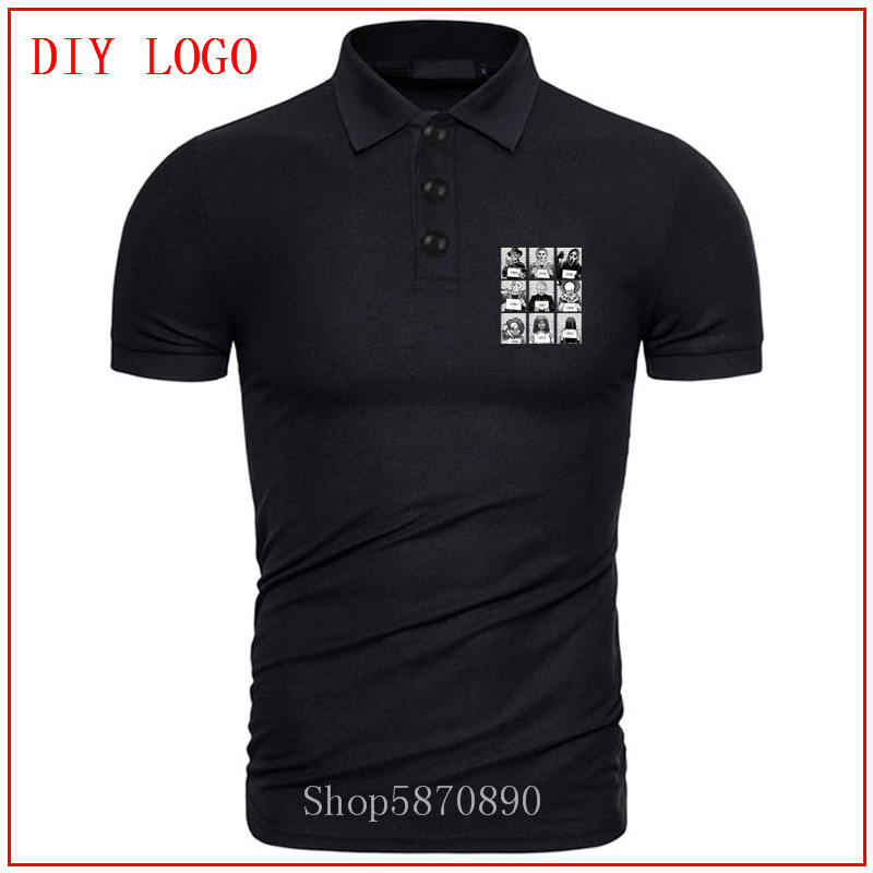 Halloween 2020 Jason Prison 2020 Men summer polo Horror Prison Jason Voorhees Freddy T shirt