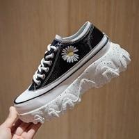 JINJIN Women Chunky Sneakers Vulcanize Shoes Korean Fashion New Female Black White Platform Thick Sole Casual Shoe