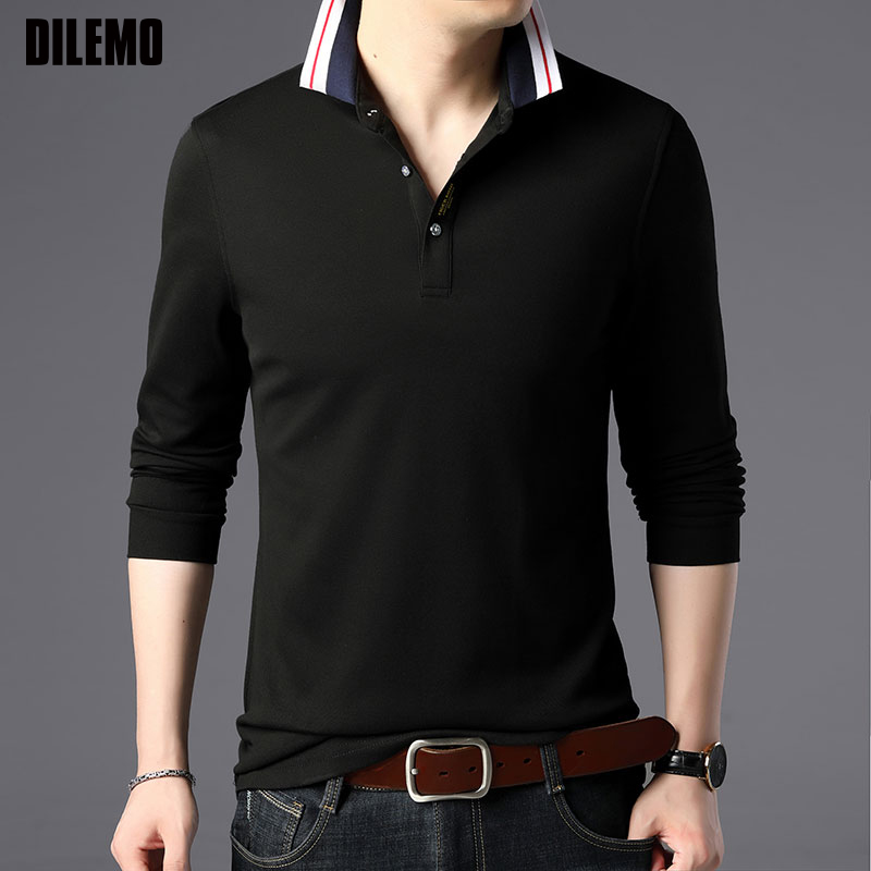 Top Grade New Fashion Brand Designer Polo Shirts Men Korean Slim Fit Long Sleeve Poloshirt Boyfriend Gift Casual Men Clothing