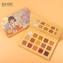 IMAGIC 15 Colors Eyeshadow Palette Glitter Pigment Matte Shimmer Magnetic Powder Smooth Professional Makeup
