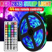 Tira de luces LED RGB con controlador Flexible, lámpara de luz de fondo de decoración RGBW de 12V, 5M, 10M, 15M, 20M, PIR, 2835