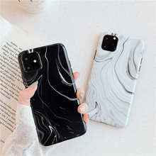 Imd Marble Case For iphone 11 Pro Max Case Soft TPU Back Cover For iphone 6 6S 7 8 Plus X XR XS Max Black White Phone cases new iphone case for iphone 11 for iphone11 pro max 5 8 inches 6 1 inches 6 8 inches 6 6s 7 8 plus ix xr max x fashion back cover
