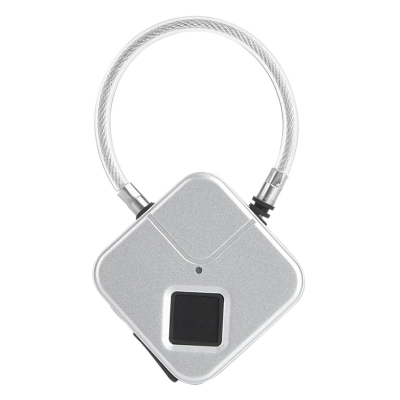 Inteligente Smart Lock Smart Fingerprint Lock Keyless Padlock Wire Rope Padlock Usb Charging Fingerprint Lock