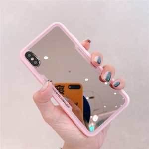 Gimfun Mirror TPU Case For iphone 11 Pro XS MAX XR X 7 8 6s plus Shockproof Fundas Pink Make Up Soft Silicon Back Cover Cases(China)